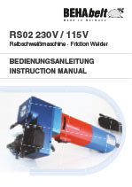 RS02 Friction welder manual de/en/fr/es