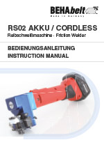 RS02 AKKU/CORDLESS Instruction manual de/en/fr/es