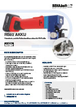 RS02 AKKU/CORDLESS Friction welding machine