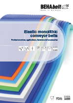 Elastic monolithic conveyor belts (english)